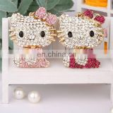 HOT PROMOTIONAL DELICATE GIFT CRYSTAL HELLO CAT MATCHING KEYCHAIN