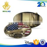 USS Zinc Alloy Enamel Belt Buckle for Souvenir