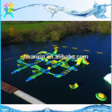 2018 New Design 33x28M Giant Commercial Adult Lake Inflatable Sea Floating Aqua Park For Sale