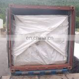 20 or 40 foot white flexible bulk container liners