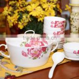 new bone china dinner set with bubble wrap 15 pcs bone dinner set with good quality and checap price