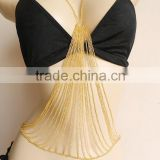 Harness Shoulder Bikini Gold Body Chain Jewelry Necklace