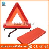 Good price plastic ABS red color reflective Car Warning Triangle with metal leg car triangle warning sign