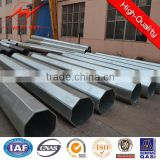Powder Coating 12m treated steel pole round with Cross Arm                                                                                                         Supplier's Choice
