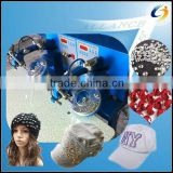 Easy operation ultrasonic hotfix rhinestone setting machine for decorating woolen hat, cap