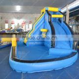 amusing water slide with pool for sale