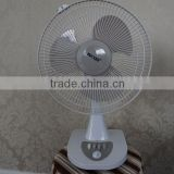 3 blade AC battery desk table cooling fan wholesale directly supply from chinese factory with cheap price