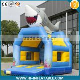 Funny inflatable bouncy castle, amusement park type inflatable castle with whale cartoon