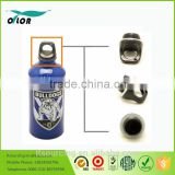 Wholesale good price best quality aluminum blue water bottle with a bulldog logo