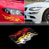 2pcs Universal Car Sticker Styling Engine Hood Motorcycle Decal Decor Mural Vinyl Covers Accessories Auto Flame Fire