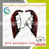 Hot sale KLQ6798 Higer bus parts left and right red combination tail light rear lamps 24V