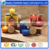 Top quality pure soy wax candle in glass jar with reasonable price and fast delivery on hot selling!!!                                                                         Quality Choice