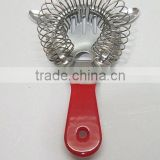 PVC coating handle stainless steel cocktail strainer