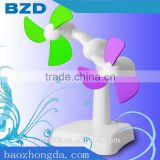 Double Engine Revolutionary USB Portable Mini Handheld Fan / Promotional Gift Double blades Revolving Fan/ OEM Manufacturer