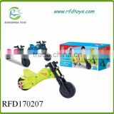 Kids plastic motorcycle to ride on sliding baby walker