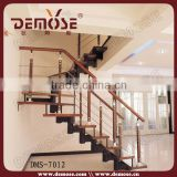 glass stair railing pillars for wood steps for indoor stairs