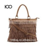 Fashion fringe suede tassel bag wholesale handbag brown colors tassel handbags                                                                         Quality Choice