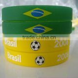 factory hot selling custom embossed,debossed,printed Silicone Bracelets/mix colour wristband