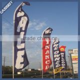 Wholesale Advertising Promotional Beach Flag Feather Flag