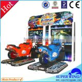 47 inch Motorcycle racing game machine video game machine simulator lottry machine for game zone