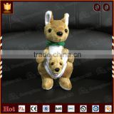 Super soft animal baby kangaroo plush toy embroidery for Christmas decoration