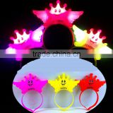 2016 Glow LED Light Up crown Hair Band Headband Bowknot Head Bopper for girl kids christmas Party Cosplay