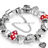 New Stock Fashion Jewelry Zinc Alloy beads Bracelets Large Hole European Charm Imitation Bracelet