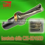 Tool Steel Borehole drills C32-SD27-2D suit with WCMT Inserts 2x drill