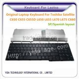 Brand New Original Laptop Keyboard For Toshiba C650 C655 C655D L650 L 655 L670 L675 C660 SP Layout back color