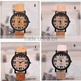 Top Quality Luxury Wood Watch Leahter Strap Quartz Analog Men Women Wooden Wristwatch Relogio Feminino Clock