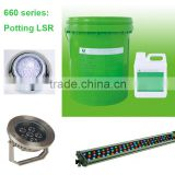 2 Components Potting Silicone Glue used for DIfferent lamps, LED Display, Circuit Board etc
