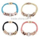 2016 New Charm Bracelet for Women DIY Jewelry competitive price Wax Rope Chain Coin Braid Bracelet
