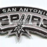 Basketball team logo embroidey patch with shape cut and iron on