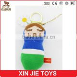 10cm plush mascot doll keychain 8inch soft mascot doll 100% polyester material mascot toys