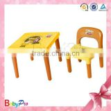 2015 Hot Sale Promotional Yellow Folding Study Children Table And Chair Set Toys Plastic Folding Table And Chair