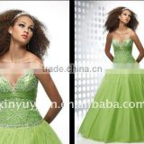 Newest Arrived luxurious beads & tulle Quinceanera dress ADQ-44