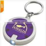 Round LED Light Promotional Key Tag