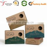 Custom print kraft paper soap box flat packing soap box                                                                                                         Supplier's Choice