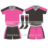 Pink soccer jersey for children customized soccer uniforms boy/girls/kids football jersey manufacture