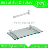 Metal hanging shelf Slatwall support brackets with suction cup fit on Slatwall glass holder