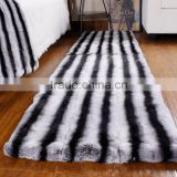 High Quality Chinchilla Rex Rabbit Fur Pelt Plate