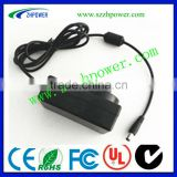 2013 new product! 12v 2a usb travel charger power adapter AU pass SAA.GS, use to LED light,Dc jack is:5.5*2.1mm