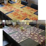 wholesale flower printed bamboo placemat table mat
