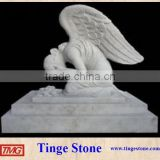 Weeping woman statues kneeling angel sculpture with wings and base                                                                         Quality Choice