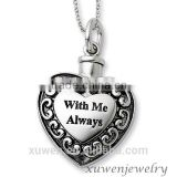 stainless steel cremation jewelry memorial urn ash holder heart pendant necklace                                                                         Quality Choice