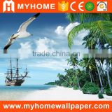blue Sea and Beach custom wallpaper murals for home wall decorative                                                                                                         Supplier's Choice