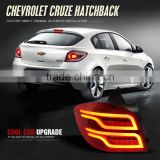 New product red smoke modified Car high power led tail light assembly for 2014~2016 year Chevrolet Hatchback CRUZE car body kit