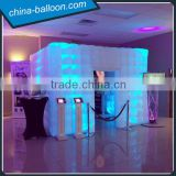 Hot sale LED inflatable exhibition photo booth, photo booth tent, portable inflatable photo booth