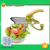 2016 new design Salad Tongs/Non-slip Grips Toss and Chopped Salad Scissors with Stainless Steel Blades