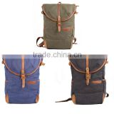 New model royalblue color vintage genuine leather college canvas fashionable bag